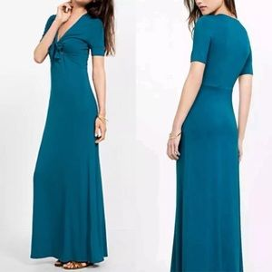 Express • Turquoise Tie Front Maxi Dress Small